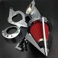 Frete grátis peças da motocicleta do Aftermarket Cone de Spike Ar Mais Limpo na Yamaha Road Star-1600 XV1600A 1700 1999-2012 cromo