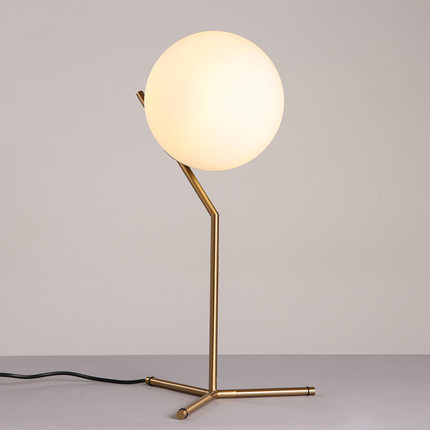 Gold body flos glass ball novelty led table lamp e14 bulb lampe de chevet de - Lampe table de chevet ...