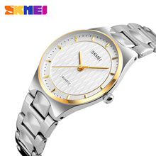SKMEI 2017 Для женщин Мода Повседневное часы Водонепроницаемый аналоговые кварцевые для женские Нержавеющаясталь браслет relogio feminino