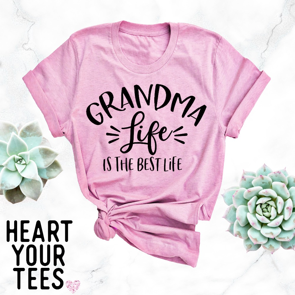 5871cee5 grandma life is the best life T-Shirt women funny Camping shrits outdoor  street style