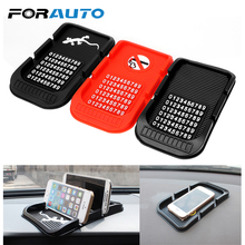 FORAUTO Non-slip Pad With Numbers Car Dashboard Anti Slip Mat For Key Cell Phone iphone Phone Holder Parking GPS Holders