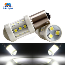 2pcs White DC 12V 24V Lens 3030 18 SMD 1156 1157 3156 3157 7440 7443 T20 Led Bulbs Turn Signal Brake Lights