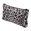 Women Zippered Leopard Print Cosmetic Holder Bag