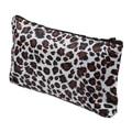Women Zippered Leopard Print Cosmetic Holder Bag