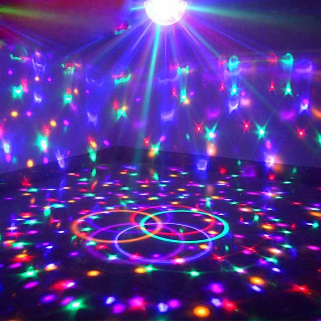 Upgrades Crystal Magic Ball Led Stage Lamp 7 Voice Control Modes 9 Colors Lighting Disco