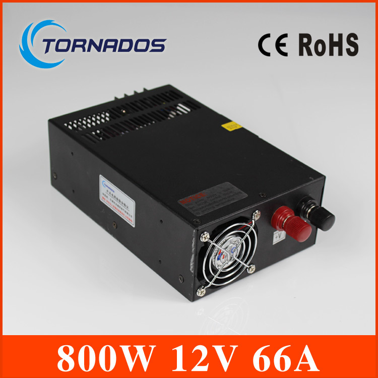 Power suply 800W 12V 66A Single Output Switching power supply for LED  Strip light input 220v AC output DC12V SMPS 1200w 12v 100a adjustable 220v input single output switching power supply for led strip light ac to dc