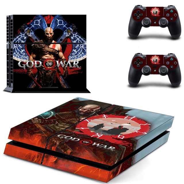God of War PS4 Skin Sticker for Sony PS4 PlayStation 4 and 2 controller skins 2