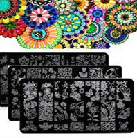 Nail-Art-Stamping-plates-2pcs-Stainless-Steel-sweet-lover-Nail-Stamping-Plates-Nail-Stamp-Tecmplate-Nail