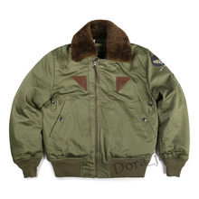 CIDI Bronson USAF Type B-15A Bomber Jacket Vintage Winter Men Military Flight Coat