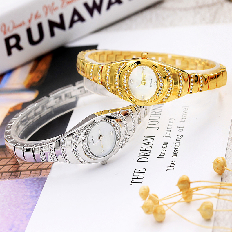 Gold Sliver Woman Watches Luxury Diamond bracelet watch Female Quartz Clock Office Ladies Wristwatches For Gifts Reloj Mujer Hot in Women 39 s Watches from Watches