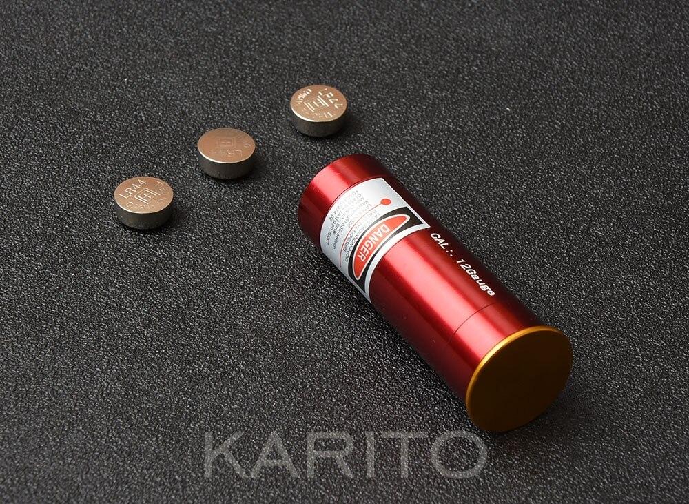 Cal 12 G Gauge Shotung Red Dot Laser Aluminium alloy Boresight CAL Cartridge Bore Sighter For Scope Hunting M4858