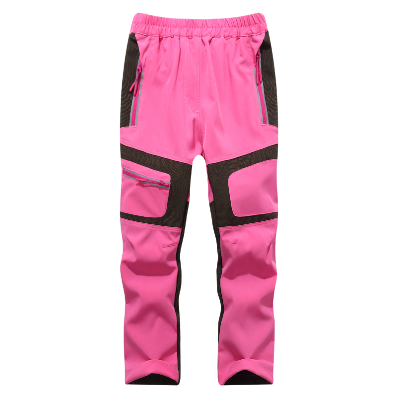 kids Outdoor Boys  Hiking Trousers Camping Girls Detachable Breathable Pants