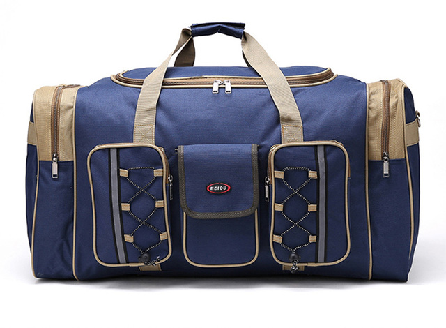 Navy Blue Custom Durable Multi Functional Travel Luggage Bag Duffle Promotional Gift