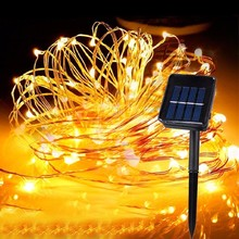 8 mode Solar Power LED Holiday light 5M 10M 20M Copper Wire String Outdoor lamp Decorative Garden Lawn Wedding Party