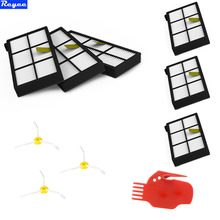 10Pcs Total HEPA Filters + 3 Sides Brush kit for iRobot Roomba Robotic Vacuum Clean 800 Series 880 870 Free Shipping New