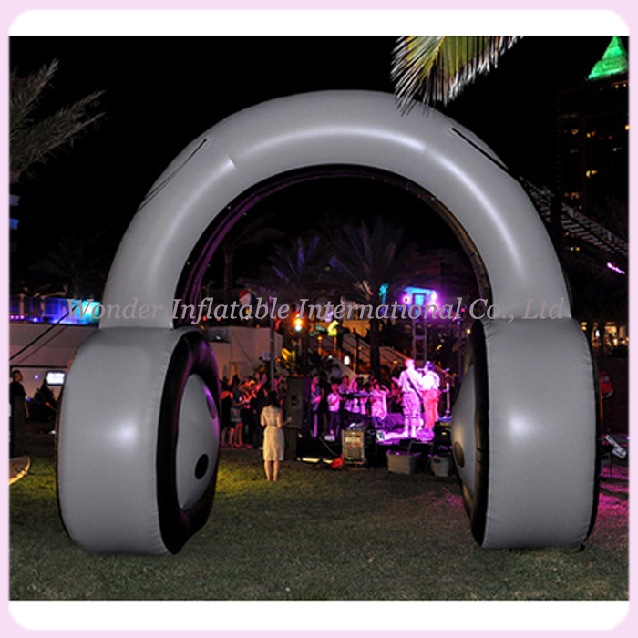Customized giant inflatable earphone inflatable headphone/headset for advertising and promotional