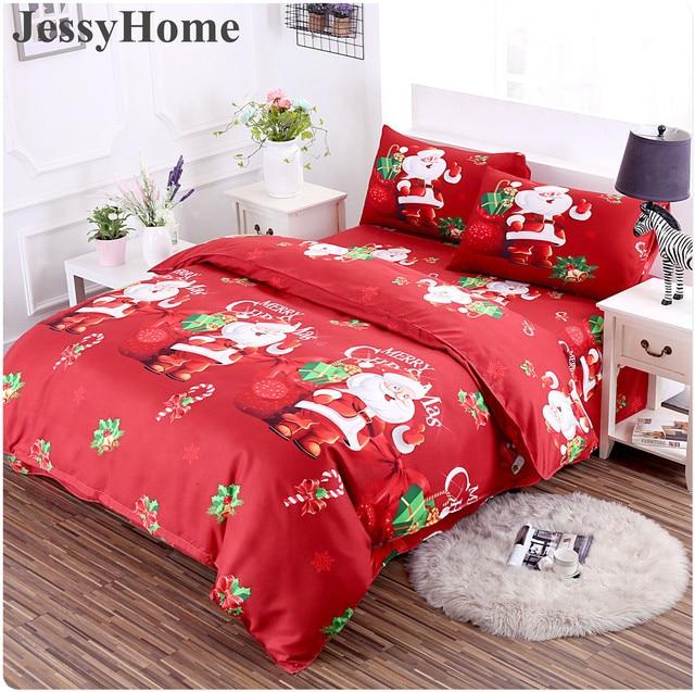 3d merry christmas bedding set duvet cover purple digital transfer comforter bed set gifts usa size - Christmas Bedding Sets