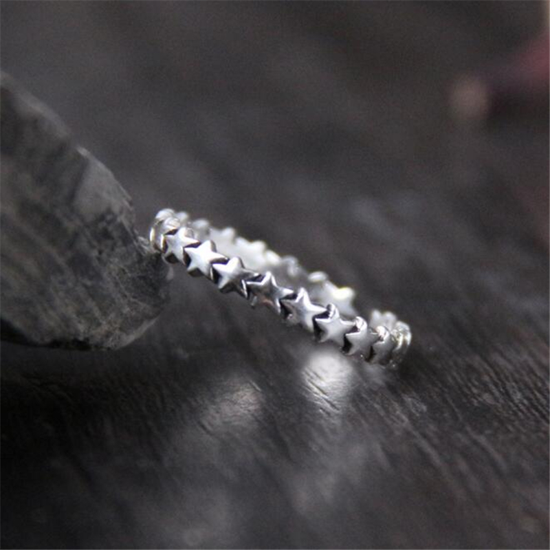 Star Trail Stackable Finger Ring For Women Wedding 100% 925 Sterling Silver Jewelry 2018 New Collection