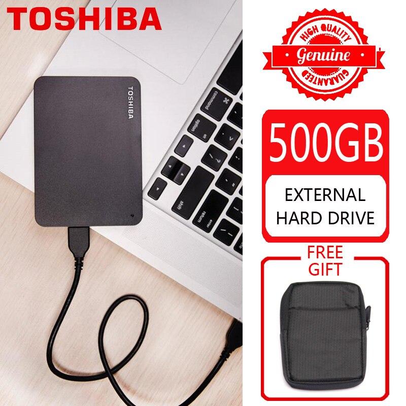 """TOSHIBA 500 GB disque dur externe disque HDD HD dispositif de stockage Portable CANVIO basiques USB 3.0 SATA 2.5 """"pour ordinateur Portable PS4-in Disques durs externes from Ordinateur et bureautique on AliExpress - 11.11_Double 11_Singles' Day 1"""