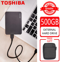 TOSHIBA 500GB External Hard Drive Disk HDD HD Portable Storage Device CANVIO BASICS USB 3.0 SATA 2.5 for Computer Laptop PS4