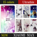 New 15 style Fashion Cute Flowers Case for Xiaomi 6.44' TPU Case Soft Dual Silicon Cover Fundas for Xiaomi max TPU Gel Capinhas