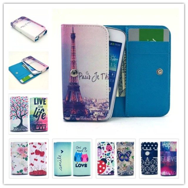 2016 Hot Dirt-resistant Painting Leather Phone Cases For Ergo F500 Force Wallet Style With Card Slot Cover Case