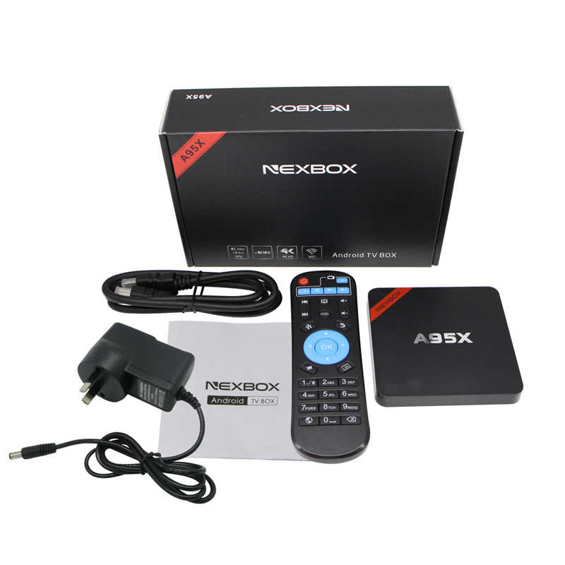 A95X NEXBOX Smart Android 7,1 ТВ-приставка Amlogic четырехъядерный S905W 2 Гб 16 Гб wifi медиаплеер PK X96 мини-приставка ТВ-приставка