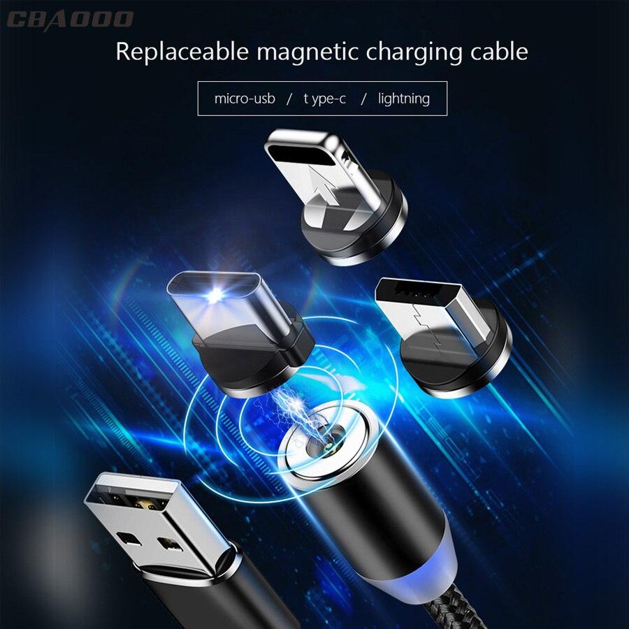 Vornehm Cbaooo Micro Usb Kabel Magnetische Micro Usb Und Typ C Kabel Für Iphone Blitz Kabel 1 M 3a Schnelle Lade Für Usb Kabel Android Auf Der Ganzen Welt Verteilt Werden Handy-zubehör