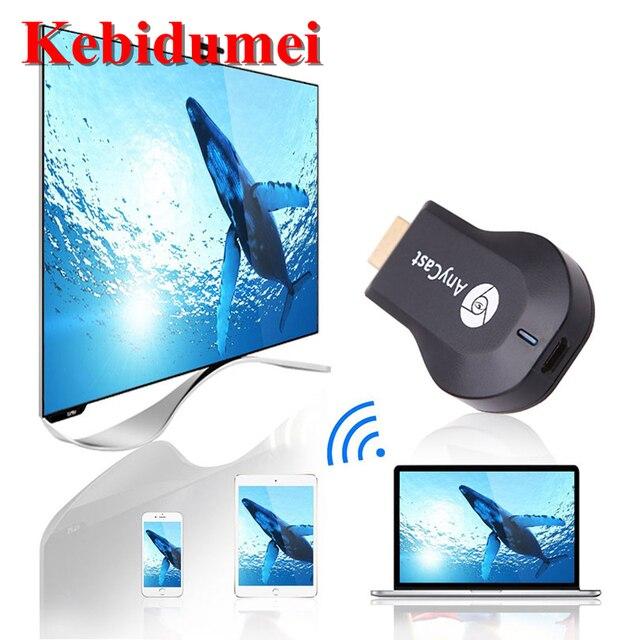 Kebidumei טלוויזיה Dongle מקלט עבור AnyCast M2 עבור Airplay WiFi תצוגת Miracast אלחוטי HDMI טלוויזיה מקל עבור טלפון אנדרואיד PC