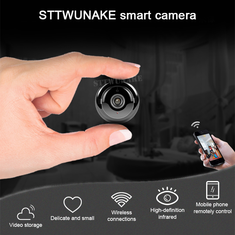 Mini Wifi Camera IP Hd Secret Cam Micro Small 1080p Wireless Videcam Home Outdoor STTWUNAKE Protection Spy Authorized Store