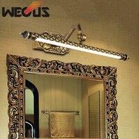 Зеркало Led лампы передних Европа американский ретро бронзовое зеркало в ванной свет водонепроницаемый зеркало фары 45 см