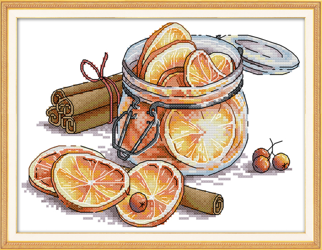 Lemon cross stitch