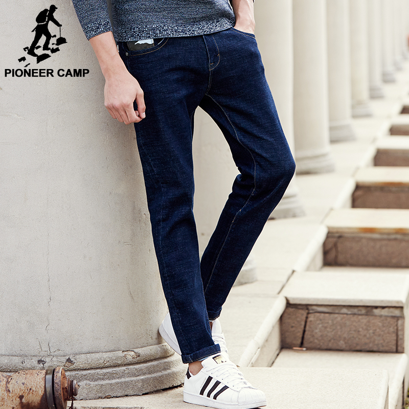 Pioneer Camp new straight jeans men brand clothing male denim pants men fashion causal top quality male denim trousers 677188 jeans men 2017 new arrival fashion brand high quality straight jeans pants casual scratched denim trousers slim fit jeans male