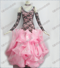 Modern Waltz Tango Ballroom Dance Dress, Smooth Ballroom Dress,Standard Ballroom Dress Girls B-0026