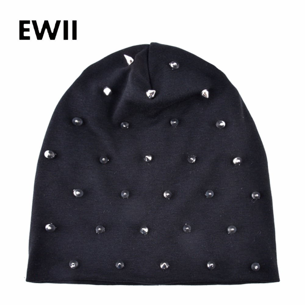 2018 New   beanie   hat for women autumn knitted hats   skullies     beanies   women slouchy caps ladies casual cap casquette femme