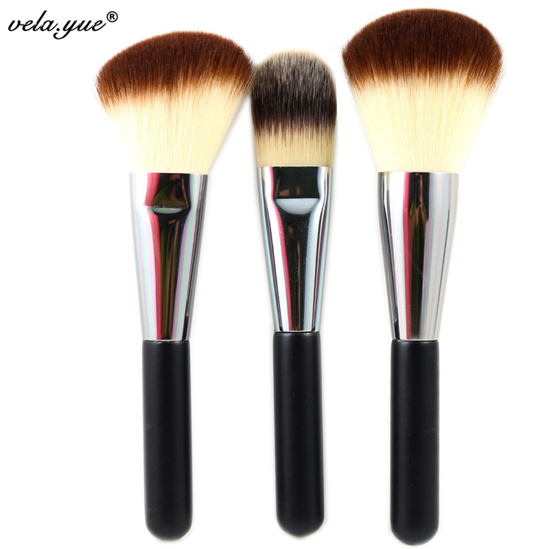 Pro Face Makeup Brushes Set 3 Kabuki Brush Powder Foundation Cream Blush Bronzer Highlighter Contour Cosmetics Beauty Tools Kit