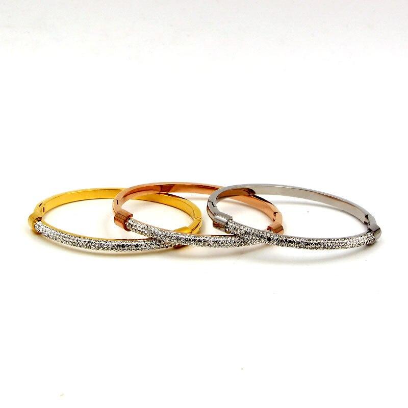 Nuovo arriva in acciaio inox monili di modo del nastro in oro rosa braccialetto di colore set per le coppie regalo TYCB18