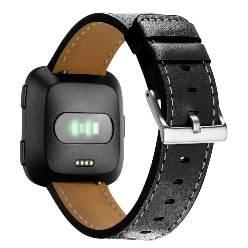 HIPERDEAL New Luxury Leather Band Bracelet Watch Band For Fitbit Versa Small 18Mar21 Drop Ship F|watch band|watch fwatch watch - title=
