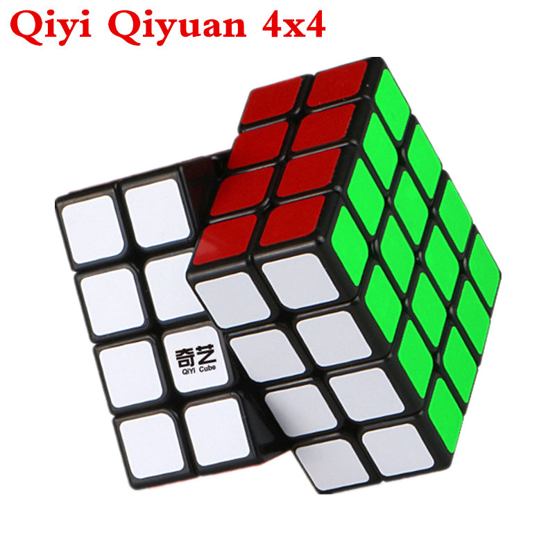 Qiyi Qiyuan 4x4 Cube, Black And White Sticker Neo Cube Puzzles Toys For Children, 4 By 4 Speed Magic Cube For Beginner Cube Toys