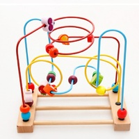 Math Toys Children Kids Baby Colorful Fruit Wooden Around Beads Educational Toys
