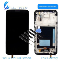 LL TRADER 100% Tested Black/White Replacement LCD For LG G2 D802 802 LCD Display Touch Screen & Digitizer Assembly Frame & Tools