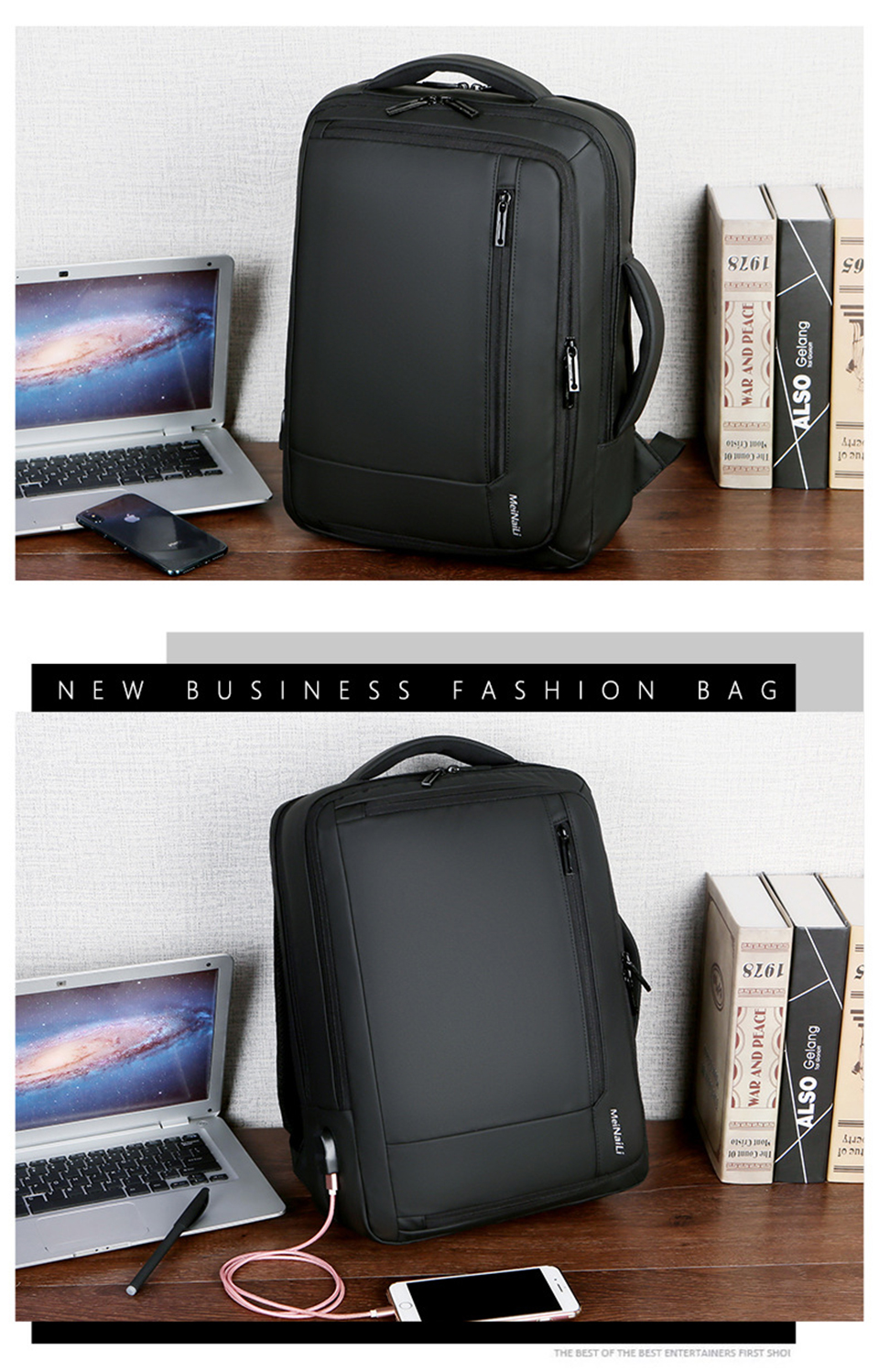 Smart Backpack Men 15.6'' inch Laptop Waterproof
