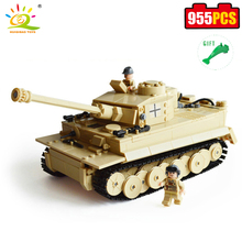 HUIQIBAO LEKSER 995 stk. Militær tysk Kong Tiger Tank Byggeblokk Modell Brinquedos Kompatibel Leged Brick Educational For Kid
