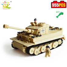 HUIQIBAO TOYS 995pcs Military German King Tiger Tank Building Block Model Brinquedos Compatible Legoed Brick Educational For Kid(China)