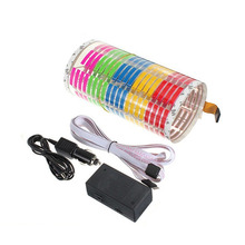 цена на Car Sticker Music Rhythm LED Flash Light Lamp Sound Activated Equalizer 12V 45x11cm Car Atmosphere