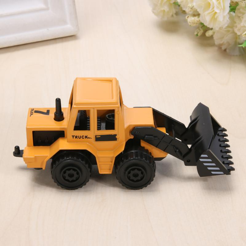 Image 4 - Mini Engineering Vehicles Pull Back Toy Excavator Forklift Burrow Truck Dump Truck Crane Charging Crane Road Roller Kids Toys-in Diecasts & Toy Vehicles from Toys & Hobbies