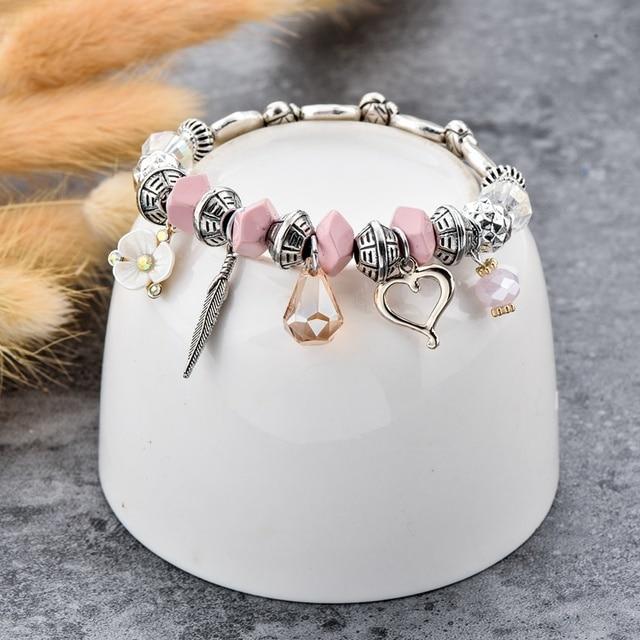 Купить chicvie love flower браслеты из нержавеющей стали с бусинами картинки