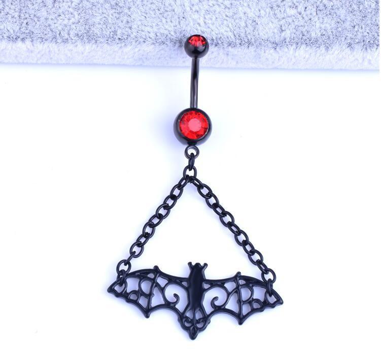 HTB1oDIuKVXXXXciXpXXq6xXFXXXH Trendy 3-Styles Black Bat Belly Button Ring For Women