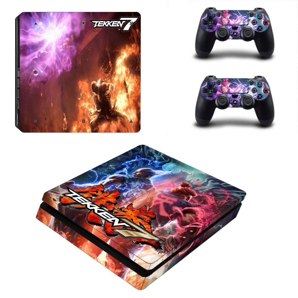 Game Tekken 7 Decal PS4 Slim Skin Sticker For Sony PlayStation 4 Console and 2 Controllers PS4 Slim Skin Sticker