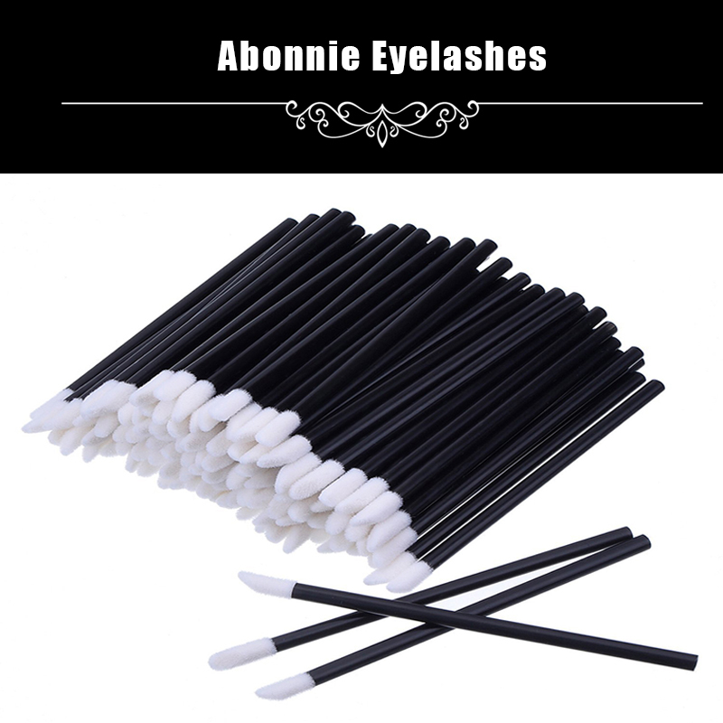 Graceful Pro 50 PCS Disposable MakeUp Lip Brush Lipstick Gloss Wands Applicator Make Up Must-Have Cosmetic Tools